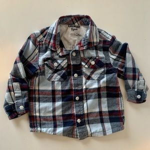 OSHKOSH Long Sleeve Flannel Button Up | 24 Months